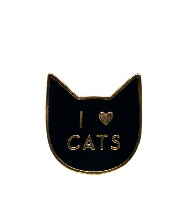 Значок-пин I love cats