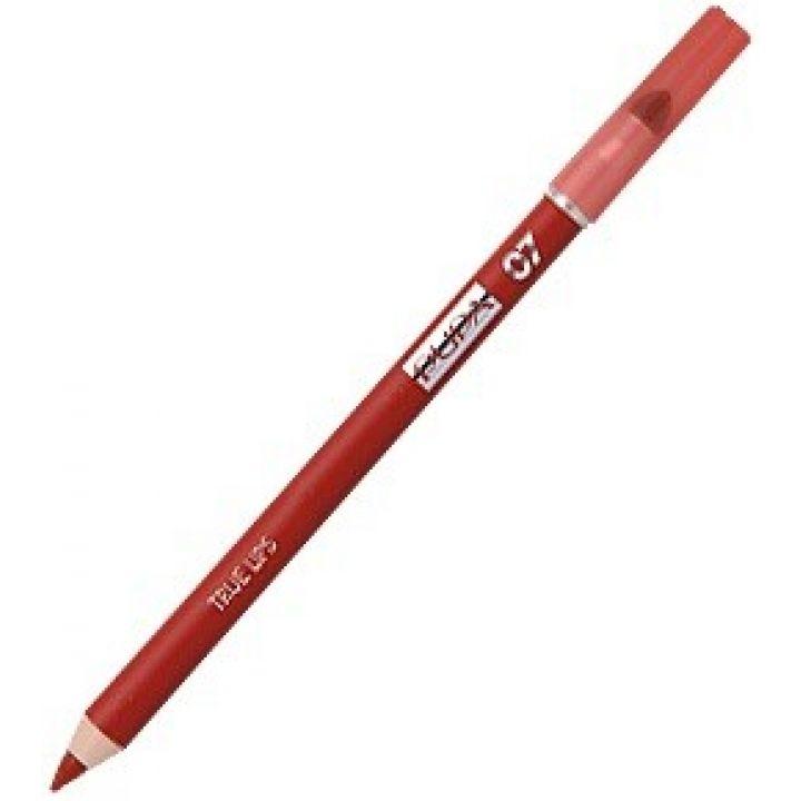 Карандаш для губ PUPA True Lips № 07 Shocking red / Шокирующий красный
