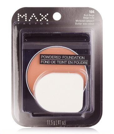 Пудра MaxFactor Powdered Foundation Mirrored Compact № 104 Rich Beige / Богатый Бежевый