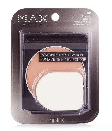 Пудра MaxFactor Powdered Foundation Mirrored Compact № 105 True Beige / Настоящий Бежевый