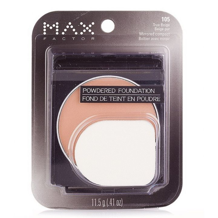 Пудра MaxFactor Powdered Foundation Mirrored Compact № 105 True Beige / Настоящий Бежевый