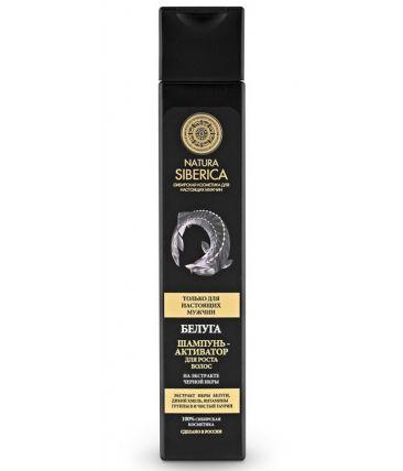 Natura Siberica Men Шампунь-активатор для роста волос «Белуга»