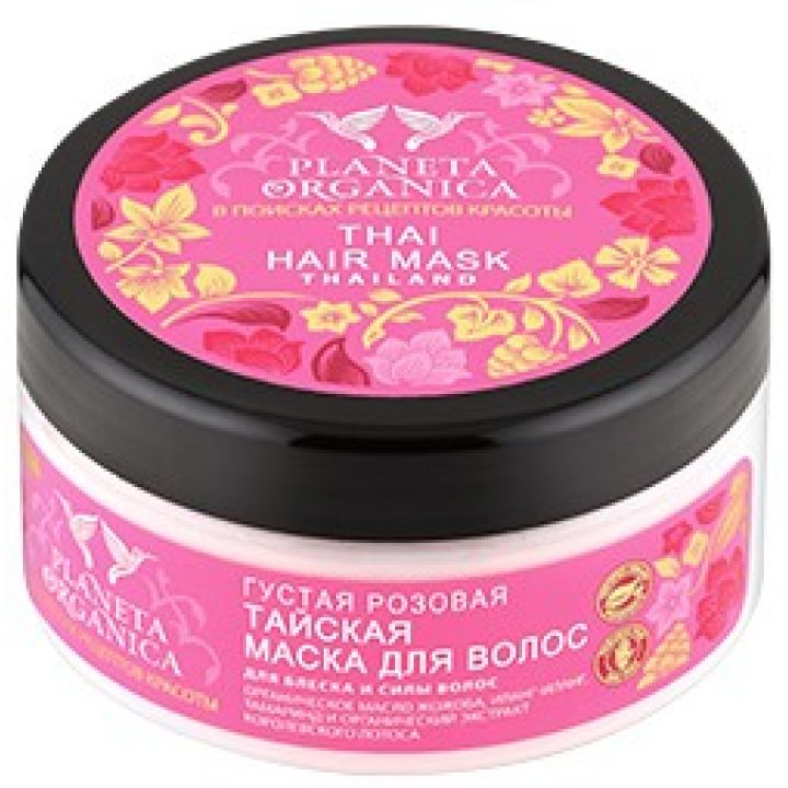 Маска для волос густая Розовая Тайская